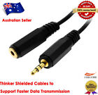 1.83M Super Resolution Gold 3.5mm Male/Female Stereo Audio Extension Cable Black