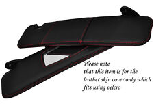 RED STITCH FITS FIAT COUPE 1993-2000 2X SUN VISORS LEATHER COVERS ONLY
