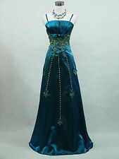 Cherlone Plus Size Blue Ballgown Wedding Evening Formal Bridesmaid Dress 18-20