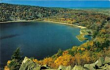 BARABOO WISCONSIN STATE PARK OF DEVILS LAKE~VIEW FROM EAST BLUFF POSTCARD 1957