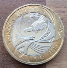 THE LONDON 2012 HANDOVER TO RIO - OLYMPIC Commemorative 2012 £2 TWO POUND COIN