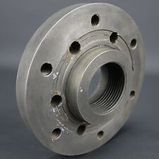 """6 1/4"""" Dia. Backplate / Adapter for Lathe Chuck or Faceplate - See pics for size"""