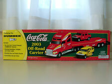 EQUITY MARKETING COCA-COLA 2003 OFF-ROAD TRACTOR-TRAILER HUMMER H2 DIECAST MODEL
