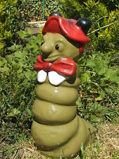 THE POSH WORM WITH BOW TIE GARDEN ORNAMENT. LATEX MOULD/MOULDS/MOLD
