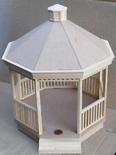 1:12 Wooden Victorian Gazebo Kit Dolls House Miniature Garden Building Accessory
