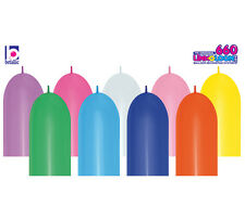 "10ct. MULTI-COLOR ASST. 6""x60"" 660 Link-o-Loon Linking Tube Shape Latex Balloons"