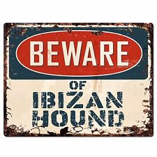 Ppdg0007 Beware of Ibizan Hound Plate Rustic Chic Sign Decor Gift