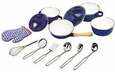 Tidlo Metal Pan Kitchenware accessory set, Kids Pretend Play Pans