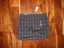 NWT Womens GAP Gray Blue Plaid Mini Skirt Size 16 $45