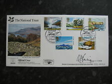 NATIONAL TRUST SCOTLAND GOLDEN JUBILEE DERWENTWATER WITH POST MARK FDC SIGNED