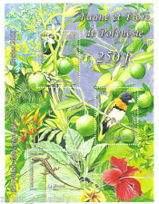 "French Polynesia ""BIRDS ~ FOREST ~ POLYNESIAN FLORA & FAUNA"" MNH MS 2013 !"