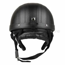 Motorcycle Scooter Open Face Helmet Black +Visor +Goggles