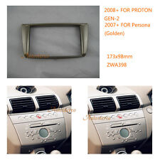 Car Radio fascia installation trim for PROTON GEN-2 2008+ Persona 2007+ (Golden)