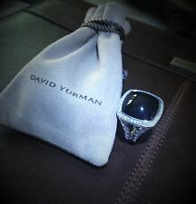 David Yurman Albion Ring with 17mm Black Onyx and Diamonds, Size 6.75 @ $1,650