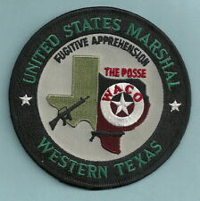 UNITED STATES MARSHAL WESTERN TEXAS FUGITIVE APPREHENSION POSSE POLICE PATCH