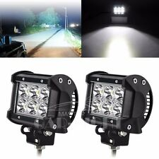 2x 6 CREE LED 18W  OFF ROAD/ FLOOD LIGHT BAR FOG DRIVING AUXILIARY LAMP CAR/BIKE