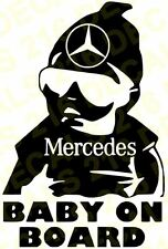 BABY ON BOARD Car Truck  Vinyl Decal Sticker for MERCEDES - BENZ