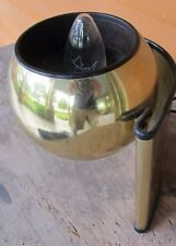 Vintage 70's Bright Brass Disco Eyeball Orb Space Age Mod Desk Table Light Lamp