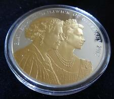 2012 5OZ GUERNSEY £10 SILVER & GOLD PROOF COIN BOX & COA DIAMOND JUBILEE 1/450