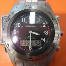 HAMILTON KHAKI MULTI-TOUCH MEN'S WATCH CHRONO SAPPHIRE ALL STAINLESS S ORIGINAL