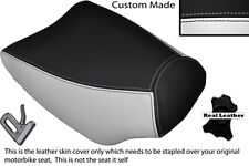 BLACK & WHITE CUSTOM FITS ITALJET DRAGSTER 125 FRONT RIDER LEATHER SEAT COVER