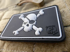 JTG-Pirate Skull Patch, SWAT/JTG 3d Rubber Patch
