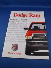 DODGE RAM SALES BROCHURE 1996 PICKUP TRUCK CUMMINS DIESEL 4X4 COLOR OPTIONS