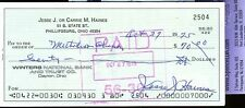 JESSE HAINES JSA AUTHENTICATED SIGNED CHECK AUTOGRAPH