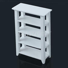 1:12 Wood Dollhouse Shelf White Miniature Store Display Living Room Furniture