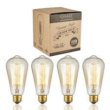 Edison style Cage-Filament Incandescent Antique light Bulb 4 PACK