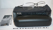 NNew Authentic OAKLEY Oph Lizard (56mm) Powter Half Rim Black/Clear OX5113-0256