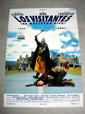 THE VISITORS Original MEDIEVAL SWORD Movie Poster JEAN RENO CHRISTIAN CLAVIER