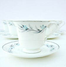 VINTAGE Mayfair Bone China Blu Floreale Tè Set 5 TAZZE PIATTINI