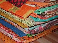 Wholesale Lot 5 pcs Vintage Kantha Quilt Reversible Throw Handmade Bedspread Art