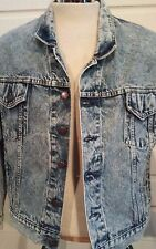 1980s Vintage Levis Jacket Mens Size S  70507-0219 Stone Acid Wash Denim  Small