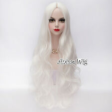 Beautiful White 80CM Long Lolita Anime Cosplay Party Heat Resistant Full Wig