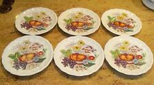 6 Copeland Spode China Reynolds Salad Plates 7 3/4 inches Fruit and Flowers