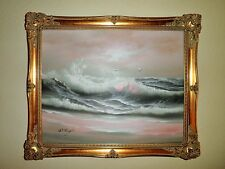 VTG CALIFORNIA OCEAN WAVES SEASCAPE PLEIN AIR IMPRESSIONISM OIL PAINTING
