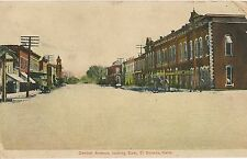 Central Avenue Looking East in El Dorado KS Postcard 1907