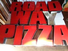 Large LETTERs 'R O A D W A Y   P I Z Z A'  Industrial Deco NEON SIGN Lot of 12