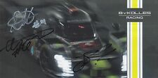 BYKOLLES RACING HAND SIGNED ALPINE LE MANS / WEC PROMO CARD 2017.