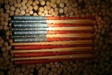 XL Rustic Baseball Bat American Flag. Made with 37 inch bats. Engraved Stars