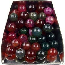 30Pcs 6mm round multi color agate gemstone spacer loose beads stone abd bd010