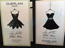 LOT of 2~Guerlain LA PETITE ROBE NOIRE+ MA ROBE PETALES .03oz SAMPLES