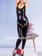Latex Rubber Gummi Sling Catsuit Black Bodysuit Charming Ganzanzug Size XS-XXL
