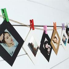 10pcs / Set Picture Photo Frame Album Display Photograph Hanging Clip String ONE
