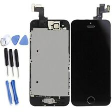 New iPhone 5S LCD Screen Digitizer Assembly Replacement+Home Button Camera Black
