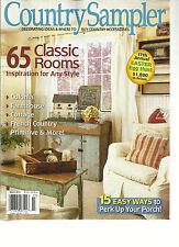 COUNTRY SAMPLER, MARCH, 2013  ( DECORATING IDEAS & WHERE TO BUY COUNTRY ACCESSOR