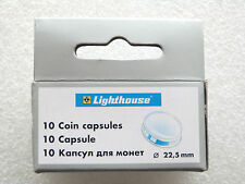 10 x 22.50mm COIN CAPSULES FITS GOLD FULL SOVEREIGN 20 EURO CENT £1 FARTHING