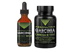 Garcinia Cambogia 100% pure 98% HCA 100mg liquid and pills 60 caps 70% hca